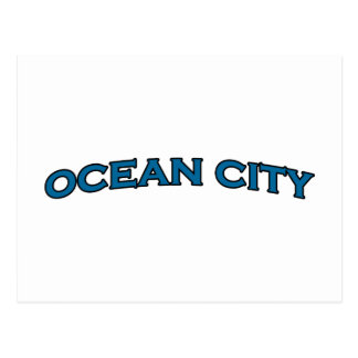 Ocean City Maryland Arched Text Logo Postcard