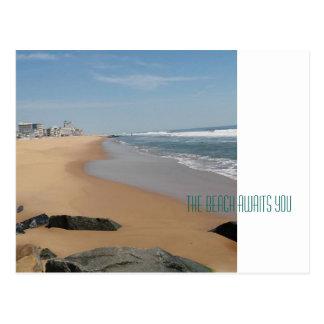 Ocean City Maryland, Beach Postcard