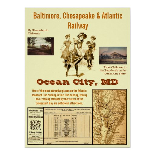 Ocean City, Maryland by Rail Posters