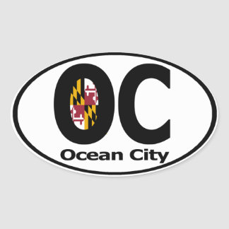 Ocean City Maryland Decal (set of 4) Oval Sticker