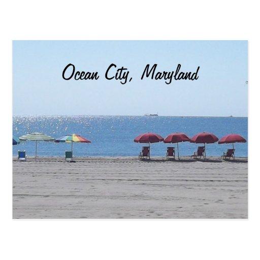 Ocean City, Maryland - Empty Beach Post Cards