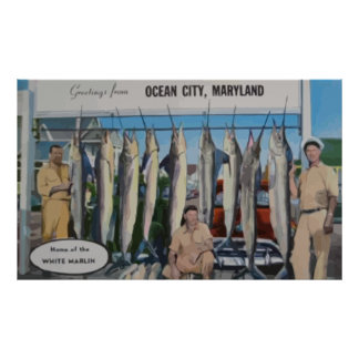 Ocean City, Maryland Home Of The White Marlin, Vin Poster