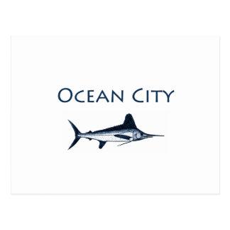 Ocean City Maryland Logo (white marlin) Postcard