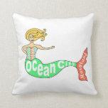 Ocean City, Maryland Mermaid Throw Pillow