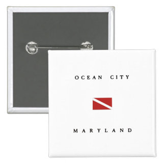 Ocean City Maryland Scuba Dive Flag Pinback Button