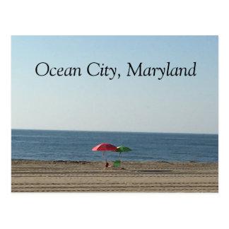 Ocean City MD Beach Postcard