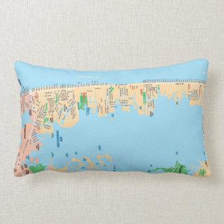 Ocean City MD Throw Pillow - Map