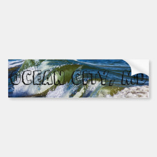 Ocean City, MD Waves Bumper Sticker
