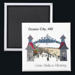 "Ocean City Memories: Magnet<br><div class=""desc"">Yet another variation</div>"