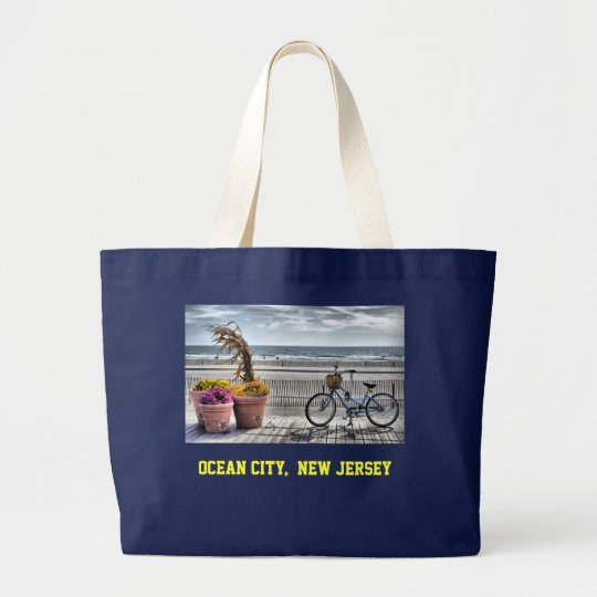 Ocean City  New Jersey Large Tote Bag