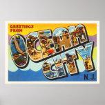Ocean City New Jersey NJ Vintage Travel Postcard- Poster