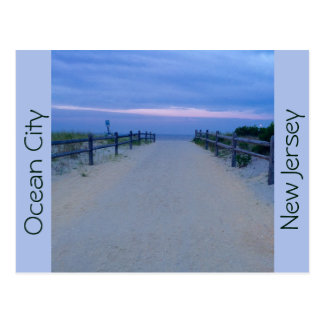 Ocean City, New Jersey Post Card - Path to Sunrise