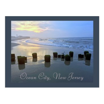 Beach Themed Ocean City, New Jersey Post Card-Sunrise Post Postcard