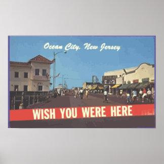 Ocean City, New Jersey, Vintage Poster