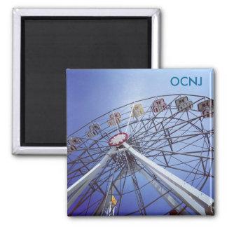Ocean City, NJ Ferris Wheel 2 Inch Square Magnet