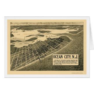 Ocean City NJ Panoramic Map - 1903 Greeting Cards