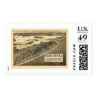 Ocean City, NJ Panoramic Map - 1903 Stamp