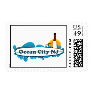 Ocean City NJ. Postage Stamp