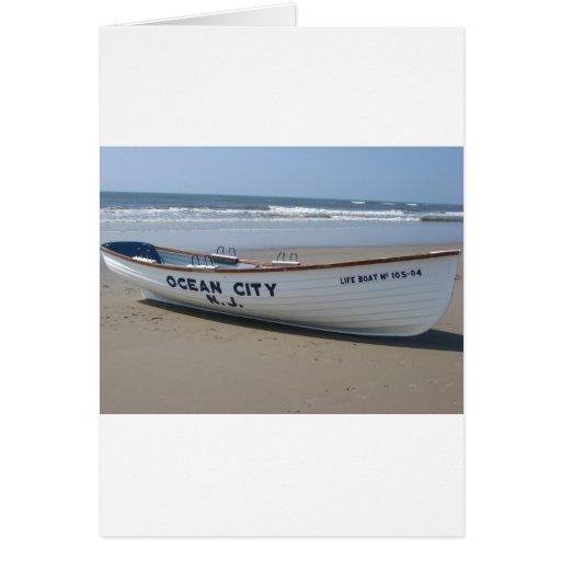 Ocean City, NJ * Summer Fun * Shore Boat Greeting Card