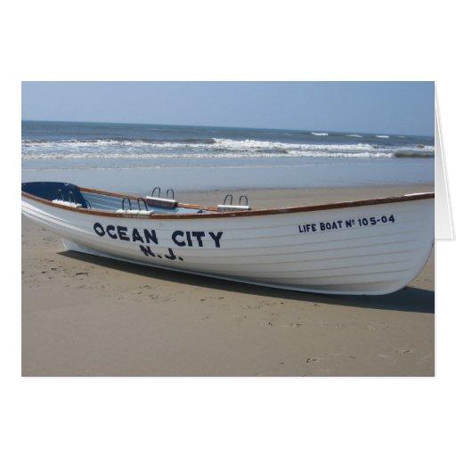 Ocean City, NJ * Summer Fun * Shore Boat Card