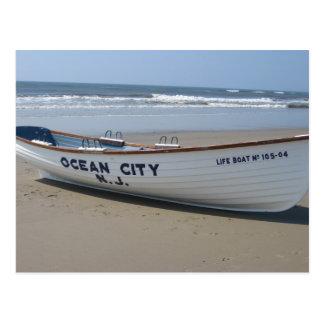Ocean City, NJ * Summer Fun * Shore Boat Postcard