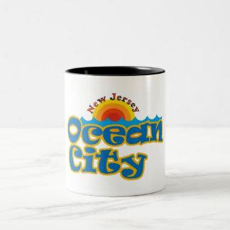 Ocean City NJ Two-Tone Coffee Mug