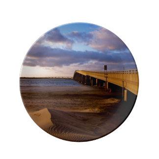 Ocean City Sunset Porcelain Plate