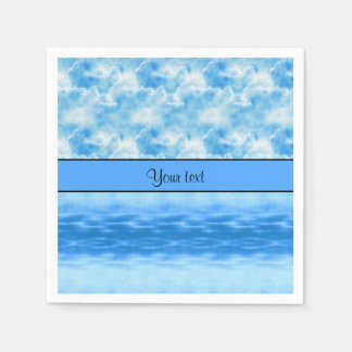 Ocean & Clouds Napkin