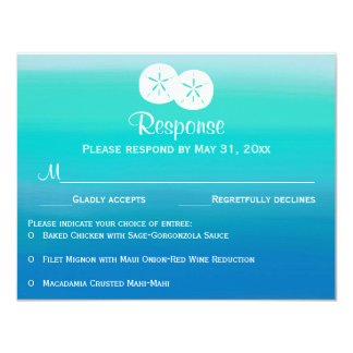 Ocean Colors RSVP Card