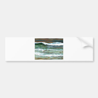 Ocean Comfort Beach Waves Surf Art Decor Gifts Bumper Sticker