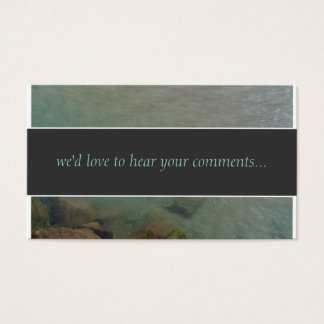 Ocean Comments Card