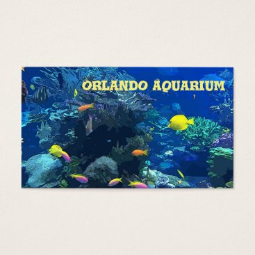 Professional Business Ocean Coral Reef Themed Business Card
