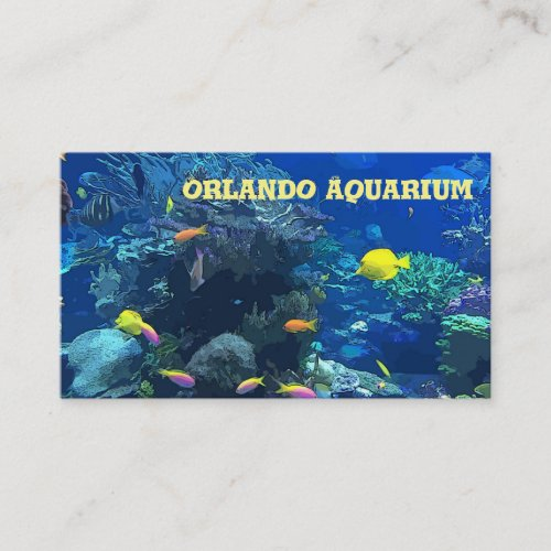 Ocean Coral Reef Themed Business Card