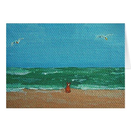 Ocean Corgi Greeting Card