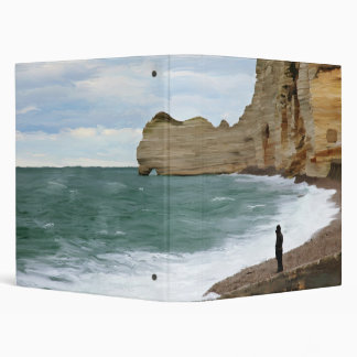 Ocean cost in Normandy, France 3 Ring Binder