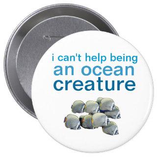 ocean creature pin pinback buttons