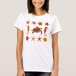 Ocean Creatures Framed Hawksbill Turtle T-Shirt