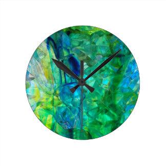 Ocean Crystals 2 Round Clock