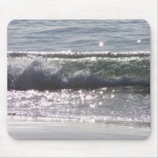 Ocean Curl Waves Beach California Sea Mouse Pad