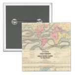 Ocean Currents and the Great River Basins 2 Inch Square Button