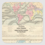Ocean Currents and the Great River Basins Square Sticker