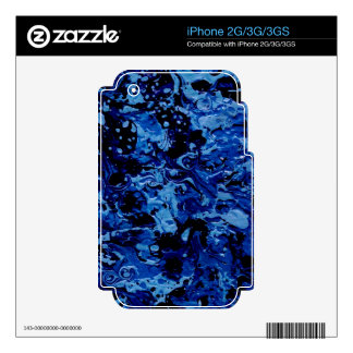 OCEAN DEEP (an abstract art design) ~ Decal For iPhone 2G