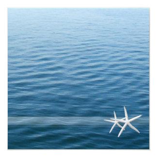 Ocean Deep; Eternal Love | Beach Wedding 5.25x5.25 Square Paper Invitation Card