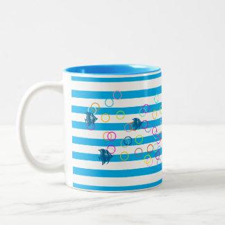 Ocean Delight Two-Tone Coffee Mug