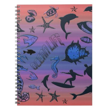 Hawaiian Themed Ocean Design Notebook