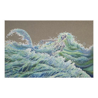 Ocean Deva by Darlene P Coltrain Print