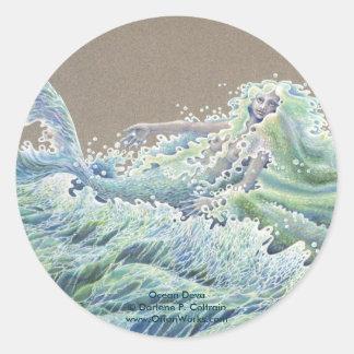 Ocean Deva, Ocean Deva Darlene P. Coltrainwww.... Classic Round Sticker