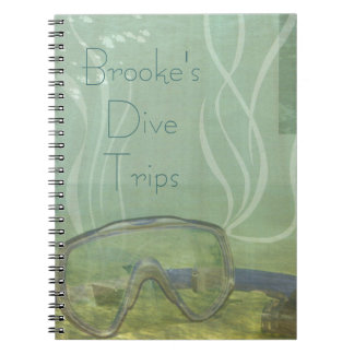 Ocean Dive Mask Dive Trip Book Personalized