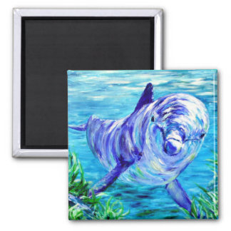 Ocean Dolphins Painting Dolphin Underwater Picture Magnet