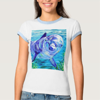 Ocean Dolphins Painting Dolphin Underwater Picture T Shirt